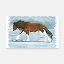 Clydesdale Rectangle Car Magnet
