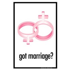 got marriage? Large Protest Poster