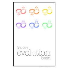 Evolution Large Protest Poster