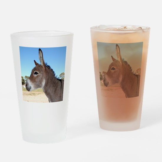 Miniature Donkey Drinking Glass