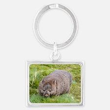 Wombat Landscape Keychain