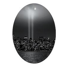 USA, New York City, Manhattan skylin Oval Ornament