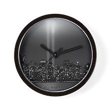 USA, New York City, Manhattan skyline w Wall Clock