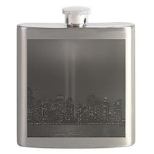USA, New York City, Manhattan skyline with 9 Flask