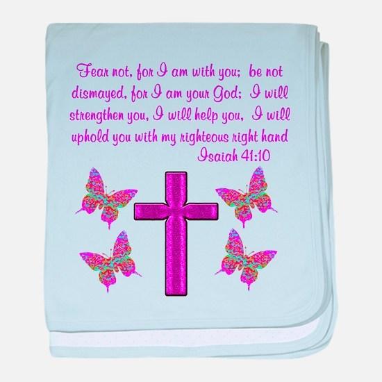 ISAIAH 41:10 baby blanket