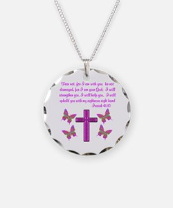 ISAIAH 41:10 Necklace Circle Charm