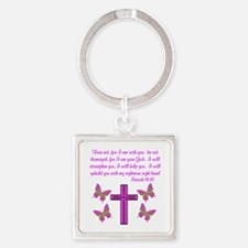 ISAIAH 41:10 Square Keychain