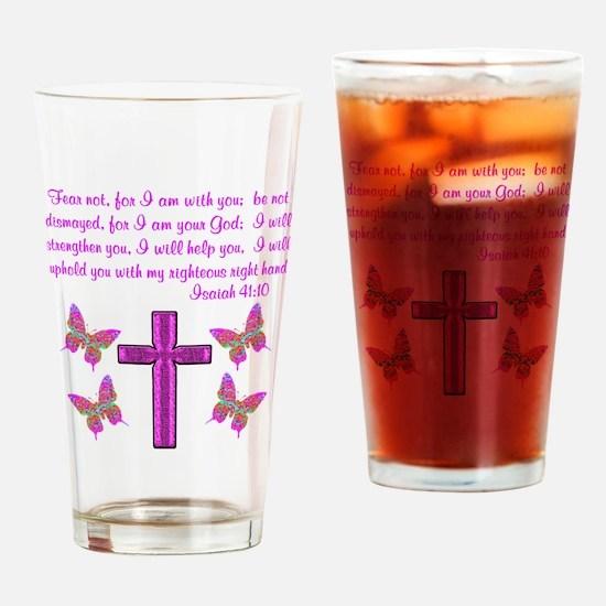 ISAIAH 41:10 Drinking Glass
