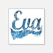 "eva Square Sticker 3"" x 3"""