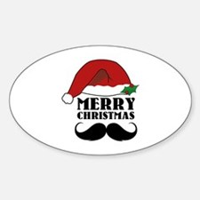 Merry Christmas Sticker (Oval)