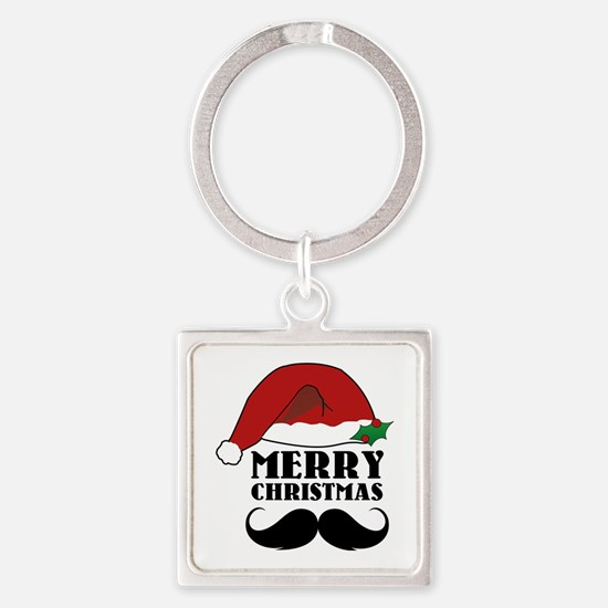 Merry Christmas Square Keychain