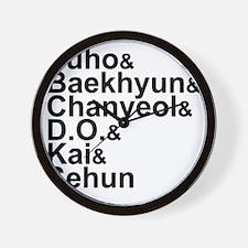 EXO-K Member List Wall Clock
