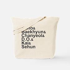 EXO-K Member List Tote Bag