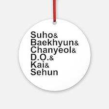 EXO-K Member List Round Ornament