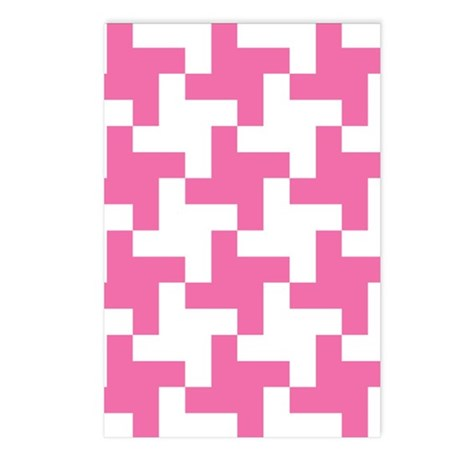 Retro Houndstooth Vintag Postcards (Package of 8)