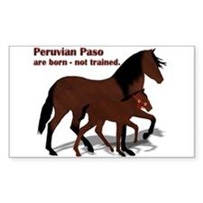 Peruvian Mare and Foal Rectangle Decal