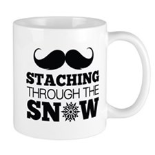 Staching Through The Snow Small Mugs