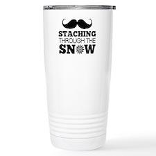 Staching Through The Snow Travel Mug