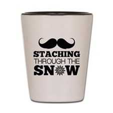Staching Through The Snow Shot Glass