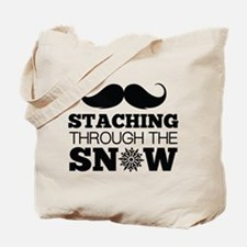 Staching Through The Snow Tote Bag