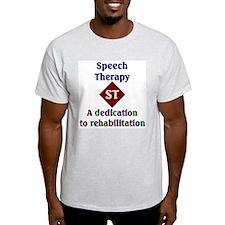 Speech Therapy Dedication Ash Grey T-Shirt