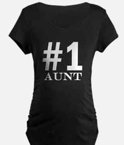 Number 1 Aunt Maternity T-Shirt