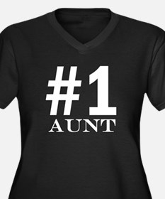 Number 1 Aunt Plus Size T-Shirt