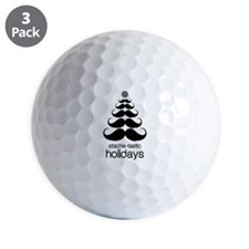 Stache-tastic Holidays Golf Ball