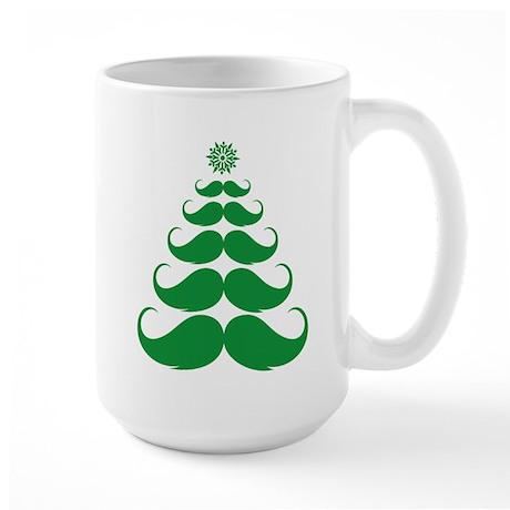 Stache-tastic Holidays Large Mug