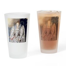 Elizabeth I Drinking Glass