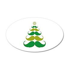 Stache-tastic Holidays 22x14 Oval Wall Peel