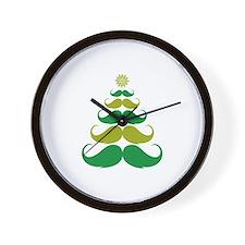 Stache-tastic Holidays Wall Clock
