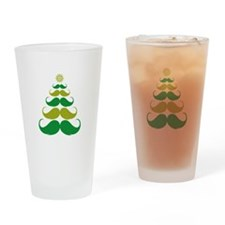 Stache-tastic Holidays Drinking Glass