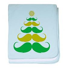 Stache-tastic Holidays baby blanket