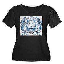 Lion Hea Women's Plus Size Dark Scoop Neck T-Shirt