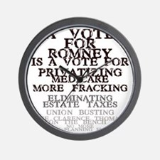 against romney Wall Clock