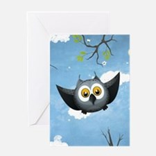 A Cute Gray Owl Greeting Card