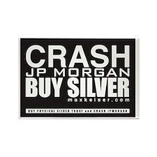 CrashJPMBuySilver Rectangle Magnet