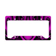 purple abstract License Plate Holder