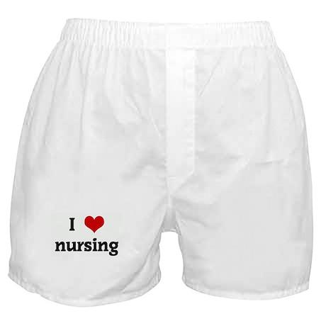 I Love nursing Boxer Shorts