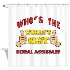 Thumbs Up Worlds Best Dental Assistant Shower Curt