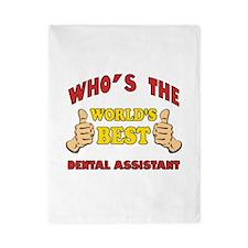 Thumbs Up Worlds Best Dental Assistant Twin Duvet