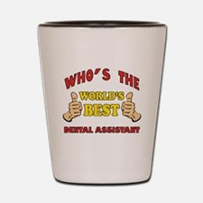 Thumbs Up Worlds Best Dental Assistant Shot Glass