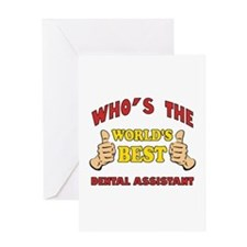 Thumbs Up Worlds Best Dental Assistant Greeting Ca