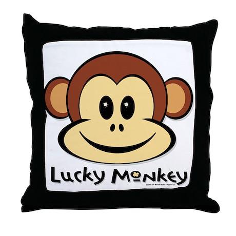 Lucky Monkey Throw Pillow