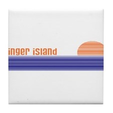 Cool Palm springs Tile Coaster