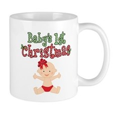 1st Christmas Baby Girl Mug