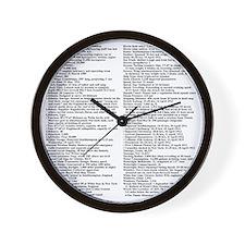TG5StatsBack2012HiDef14x14Final Wall Clock