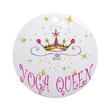 Yoga Queen Round Ornament