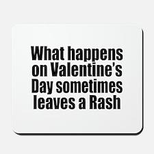 Love Heart Rose Mousepad